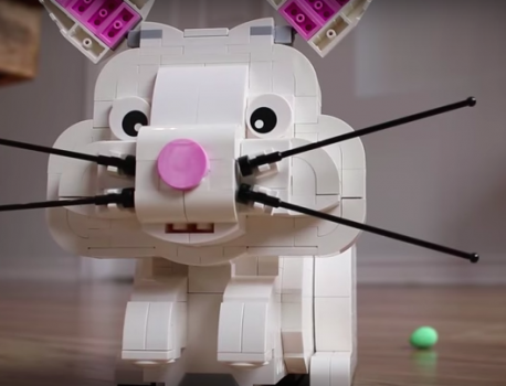 Build a LEGO Bunny and Get a Chocolate Egg Surprise!